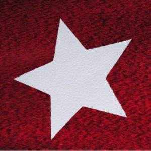 Sterne aus Schneewatte, schwer entflammbar DIN 4102 B1