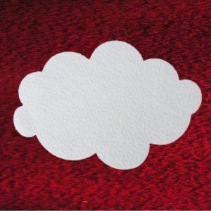 Wolken aus Schneewatte, schwer entflammbar DIN 4102 B1