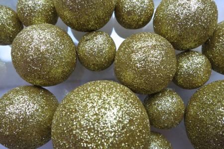 Glitzerkugeln-gold