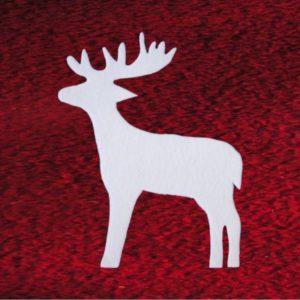 Rentiere / Hirsche aus Schneewatte, schwer entflammbar DIN 4102 B1