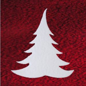 Tannen aus Schneewatte, schwer entflammbar DIN 4102 B1